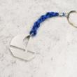 Kulcstartó/táskadísz vitorlás medállal