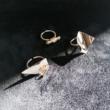 Design gyűrű - Ródiumozott gyűrű 1. - croissant