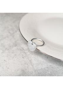 NIMFA 2021 - Szívecske gyűrű, ródiumozott