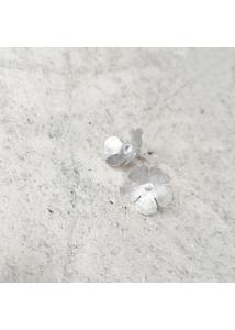 NIMFA 2021 - Virág fülbevaló, ródiumozott