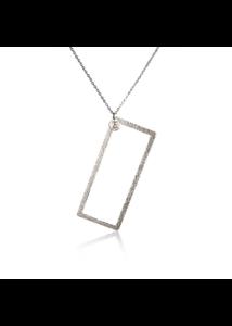 PHOENIX AW20/21 - Textúrált, téglalap nyaklánc