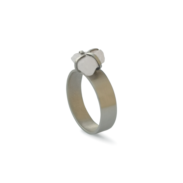 RAW STONE '20 - Gyűrű opálos fehér kővel