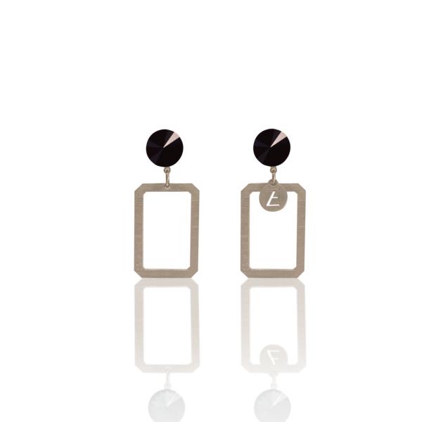 MATILD AW19/20 - fülbevaló Swarovski kristállyal 2 - fekete