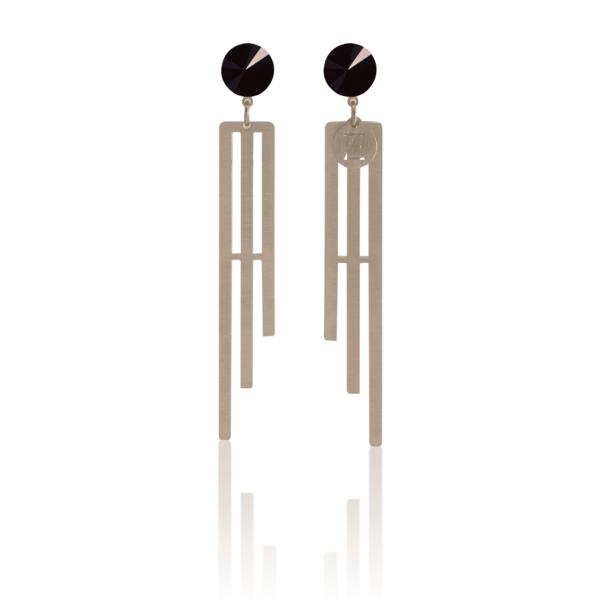 MATILD AW19/20 - fülbevaló Swarovski kristállyal 3 - fekete